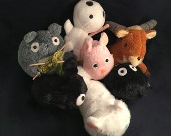 """Studio Ghibli Inspired Soft Stuffed Plush Quality [6""""] Small Toy Doll - Totoro / Bou Nezumi / Jiji / Lily / Sootball / Yakul / Kodama"""