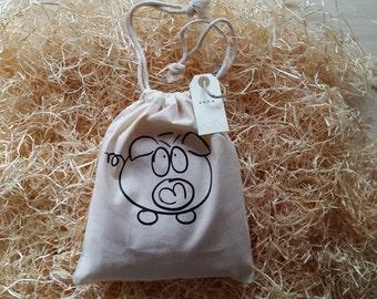 Gift bag in organic cotton