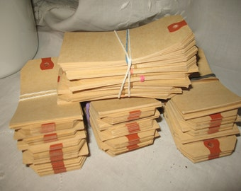 "Labels (400) (4 ""1/4 x 3"" 1/4) Brown kaft, tags, packages, Hang Tags, hole tag reinforced Kraft."