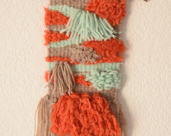 Woven - woven hanging red mint