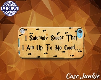 I Solemnly Swear I Am Up To No Good Marauders Map Harry Potter Case iPod Touch 4th Generation or iPod Touch 5th Gen or iPod Touch 6th Gen