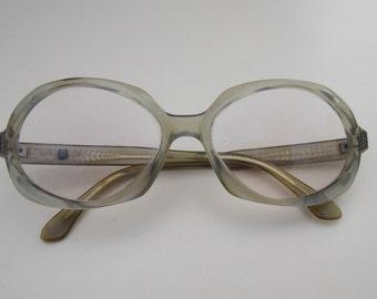 Rodenstock glasses, Vintage glasses, Rodenstock light blue frame,clear lens retro glasses, vintage style glasses,blue glasses frame 45