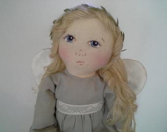 Handmade Angel Doll, Angel Art Doll, Cloth Art Doll, OOAK Textile Angel, Guardian Angel Doll, Folk Art Angel, Angel Decor, Angel Collector