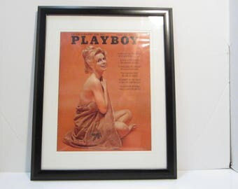 Vintage Playboy Magazine Cover Matted Framed : March 1963 - Cynthia Maddox