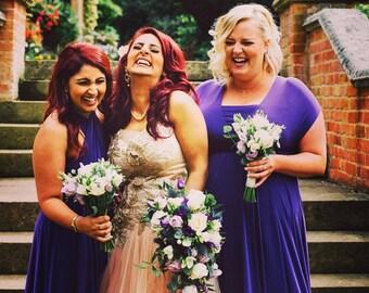 Bridesmaid dress Infinity dress wedding dress multiway dresses Infinity bridesmaid stretch lycra purple maxi dress FREE tube top