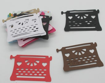 Typewriter: set of die - cut cut-outs