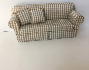 Artisan Dollhouse Miniature Silk Sofa