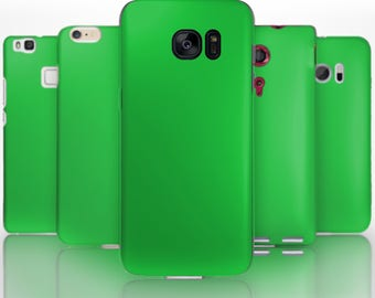 BG0128 Plastic hard case print, personalized/ custom/ personalised phone protective case clear green