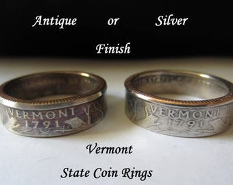 """Vermont State Quarter Handmade """"Coin Ring """" **FREE SHIPPING**"""