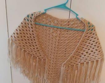 Crochet versatile shawl, cowl, beach cover up