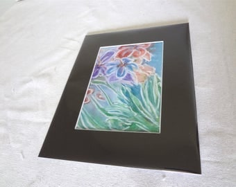Abstract Painting / India Ink Original Abstract Art/ India Ink Flower Painting