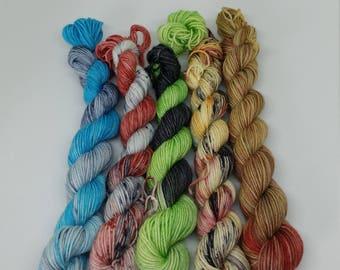 Game of Thrones Inspired Mini sets - Platinum Sock Yarn - Superwash Merino + Nylon - 75/25 - Ready to Ship