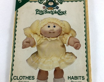 Butterick Cabbage Patch Doll Clothes Pattern 5423 P'Tits Bouts De Choux