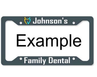 Custom Printed Aluminum Metal License Plate Frame With text, color