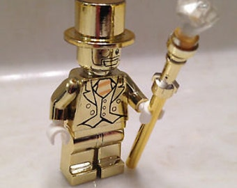 MR GOLD replica custom minifigure 100% Lego Compatible
