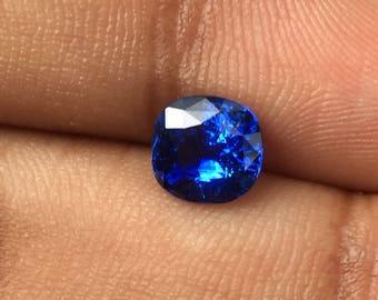 Natural Loose Gemstones | Ceylon blue sapphire | loose gems | Gemstone Jewelry | Cushion cut | natural stone | personalized sapphire jewelry