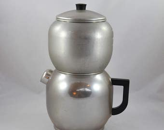 Vintage West Bend Coffee Pot, West Bend Kwik Drip 18 Cup Coffee Maker From 1945