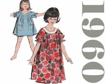 "Vintage Muu Muu Pattern Vintage Teen Dress ADVANCE 2705 FF bust 32"" Mini Dress and Panties Boy Shorts Kawaii Dress Tent Dress MuuMuu Pattern"