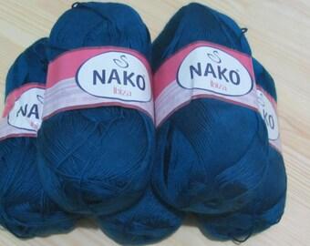 SALE! 5 skeins IBIZA NAKO #10328  - 100gr. - 350 m.  100% Premium microfiber  for crochet and knitting