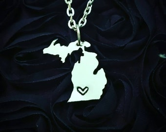 Michigan Heart Necklace