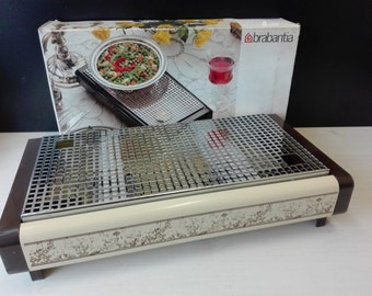 Brabantia rechaud / hot plate, boxed, decor navarra