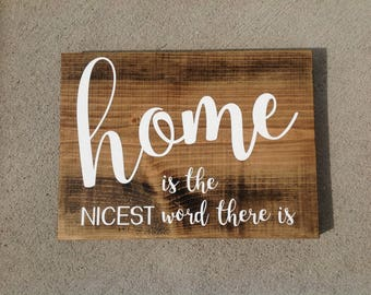 Home Sign, Wood sign, Distressed sign, Wedding Gift, Rustic Sign, Gallery Wall, Wall Decor, Hand Painted, home decor