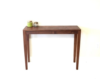 Walnut Entry Table - Sofa Table - Walnut Table - Modern Entry Table - Handmade Sofa Table