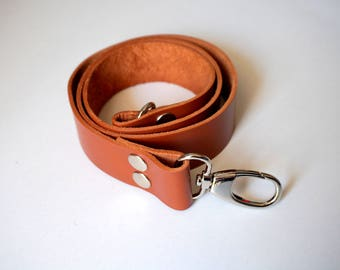 3 cm/ 1.18 inches Chocolate Brown Leather Strap / Leather Handle with hooks selection, leather handles, purse straps, anses cuir, bags
