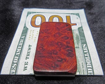 Redwood Burl Money Clip