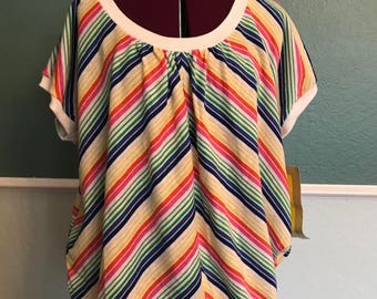 1970's Deadstock Catalina California Striped Shirt T Shirt S M L