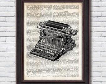 Typewriter Dictionary Art, Typewriter Wall Decor, Dictionary Artwork, Wall Art, Office Decor - DI005