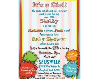 Baby Shower Invitation, It's a Boy, It's a Girl