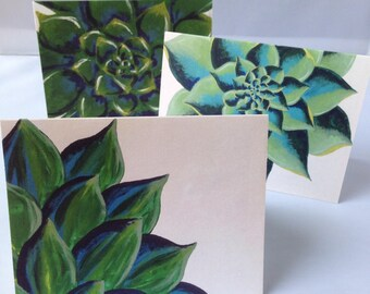Bundle of 3 Greeting Cards, Blank Cards