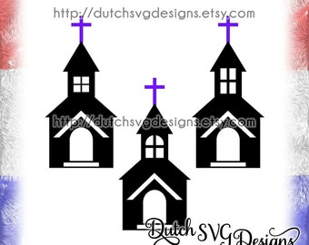 Church cutting file, in Jpg Png SVG EPS DXF, for Cricut & Silhouette, church svg, religious svg, cross svg, baptism svg, wedding svg
