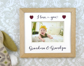 grandparents picture frame photo frame gift for grandma grandpa or any title i or we love you
