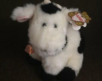 Gund Cow Daisy #2525 Black & White Stuffed Animal 1987