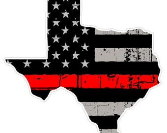 Texas State (C2) Thin Red Line Vinyl Decal Sticker Car/Truck Laptop/Netbook Window