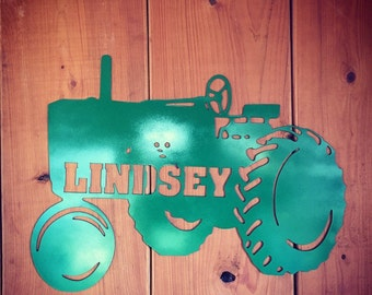 Old personalized John Deere Tractor