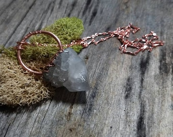 Electroformed Spirit Quartz Necklace