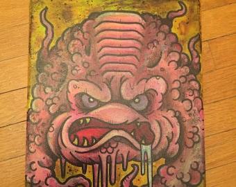 "Neotraditional Tattoo Art Krang Teenage Mutant Ninja Turtles Painting by Kevin Thrun - 8""x10"""