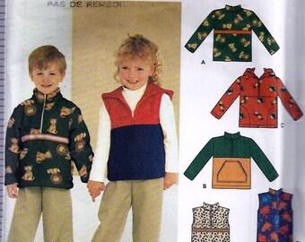 Child's Top or Vest - Haut ou gilet pour enfants - Simplicity no 9347