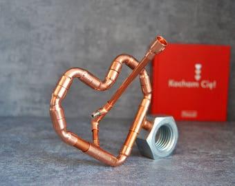 COPPER HEART 1 pen set, copper pen, wife mom boss, pen for loved one, pen for girlfriend, teacher retirement gift, industrial pen,