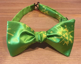 Legend of Zelda Bow Tie, Triforce, Link, Hylian, Ocarina of Time, Video Game Themed, Self Tie, Pre Tied, Bowtie, Tie, Dapper On Arrival