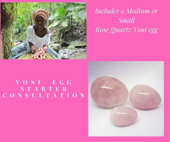 30 Minute Yoni Egg Starter Consultation with 1 Med. Rose quartz or 1 Med. Jade Egg