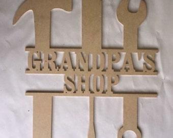 Personalized Grandpa's Shop sign