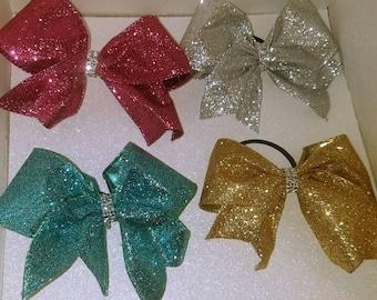 Glitter Cheer Bow,  Fundraiser, cheer bow , Cheerleading bow, Glitter Cheer bow