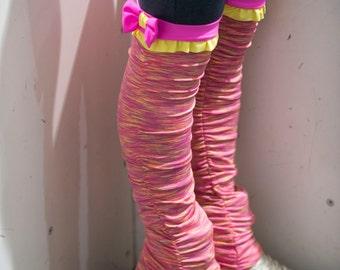 Bow and Ruffle Leg Warmer Pants