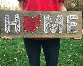 Ohio Home String Art - Made to Order