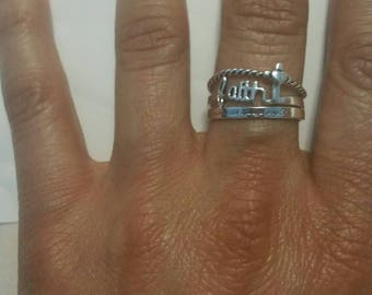Ring in sterling silver with inspiration word