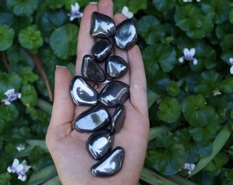 5 or More Hematite Tumbled Stones